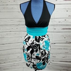 Cute Black,  White and Teal Dress by Speechless